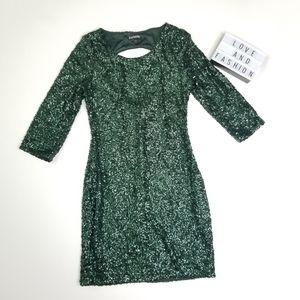 Express Green Sequin Dress
